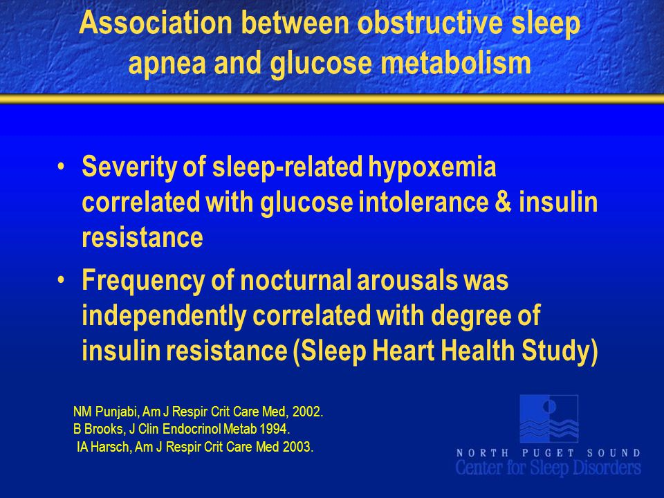 Association between obstructive sleep apnea and glucose metabolism