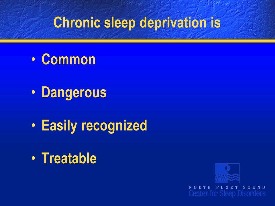 Chronic sleep deprivation is