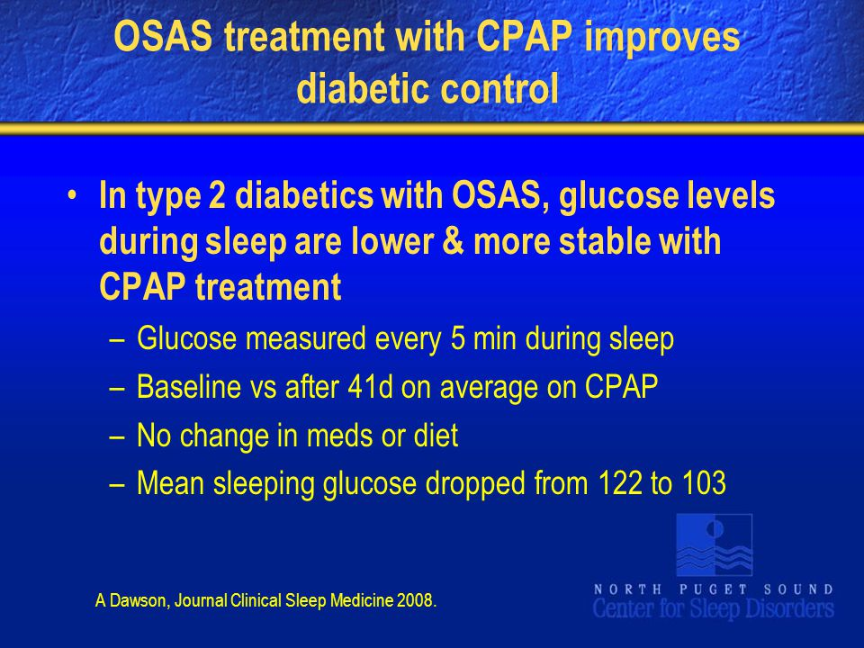 OSAS treatment with CPAP improves diabetic control