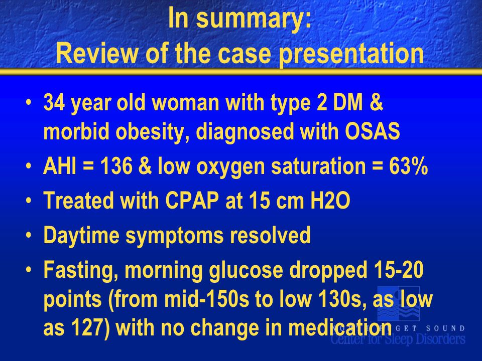 In summary: Review of the case presentation
