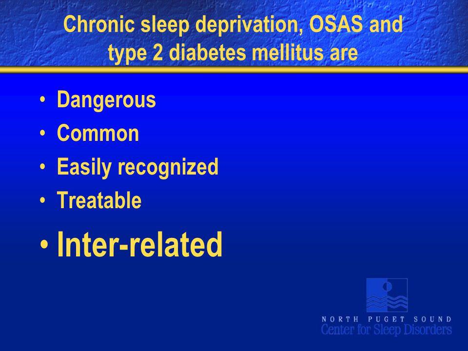Chronic sleep deprivation, OSAS and type 2 diabetes mellitus are