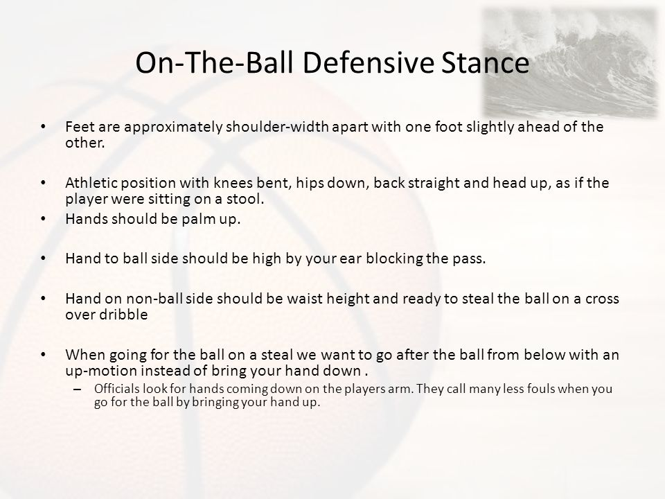 On-The-Ball Defensive Stance