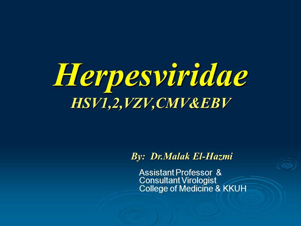 Herpesviridae HSV1,2,VZV,CMV&EBV