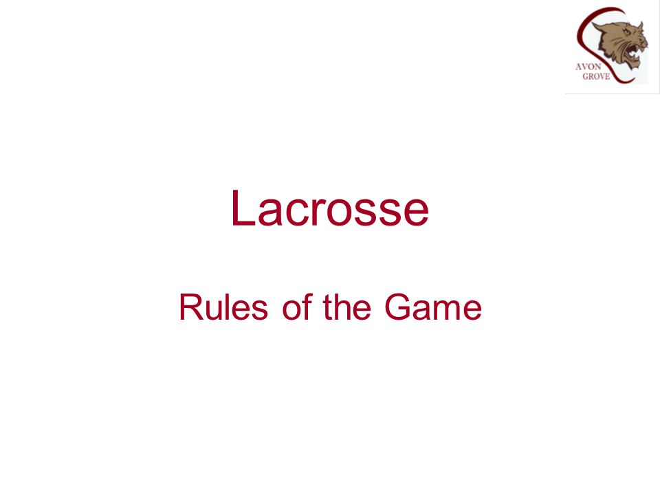 Lacrosse Rules of the Game