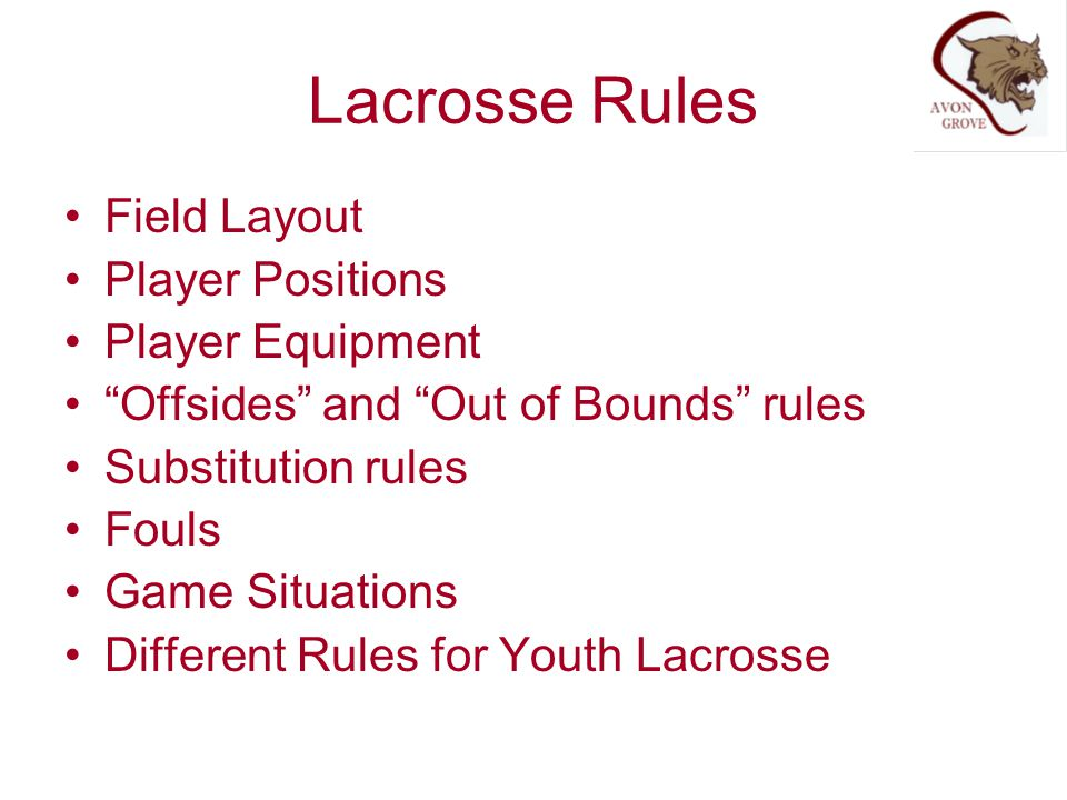 Lacrosse Rules Field Layout Player Positions Player Equipment