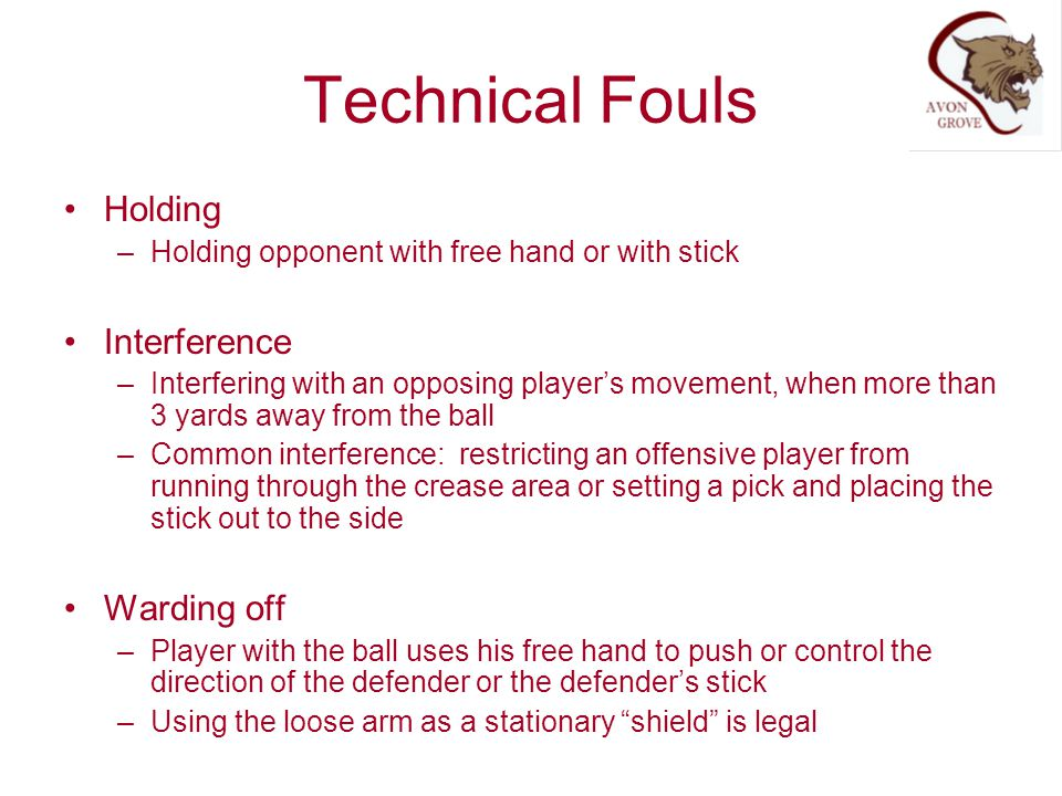 Technical Fouls Holding Interference Warding off