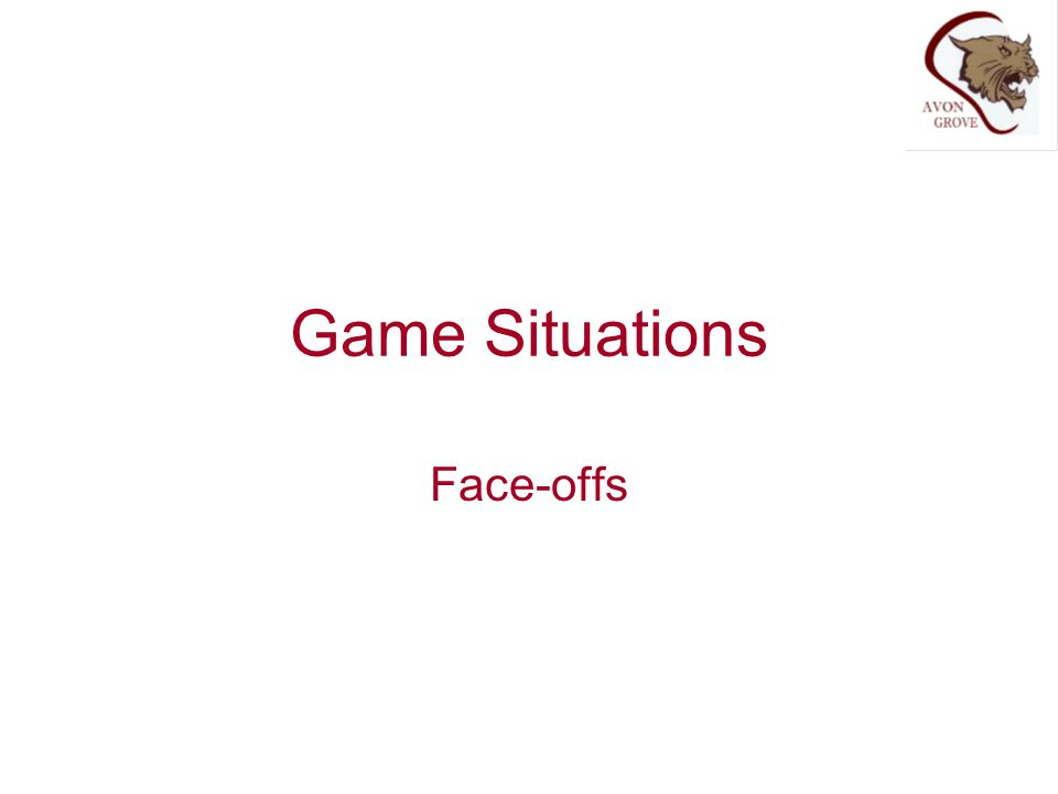 Game Situations Face-offs