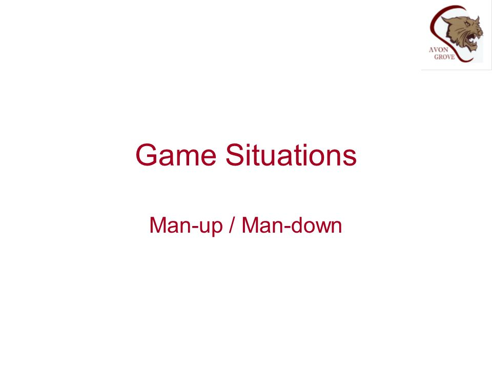 Game Situations Man-up / Man-down