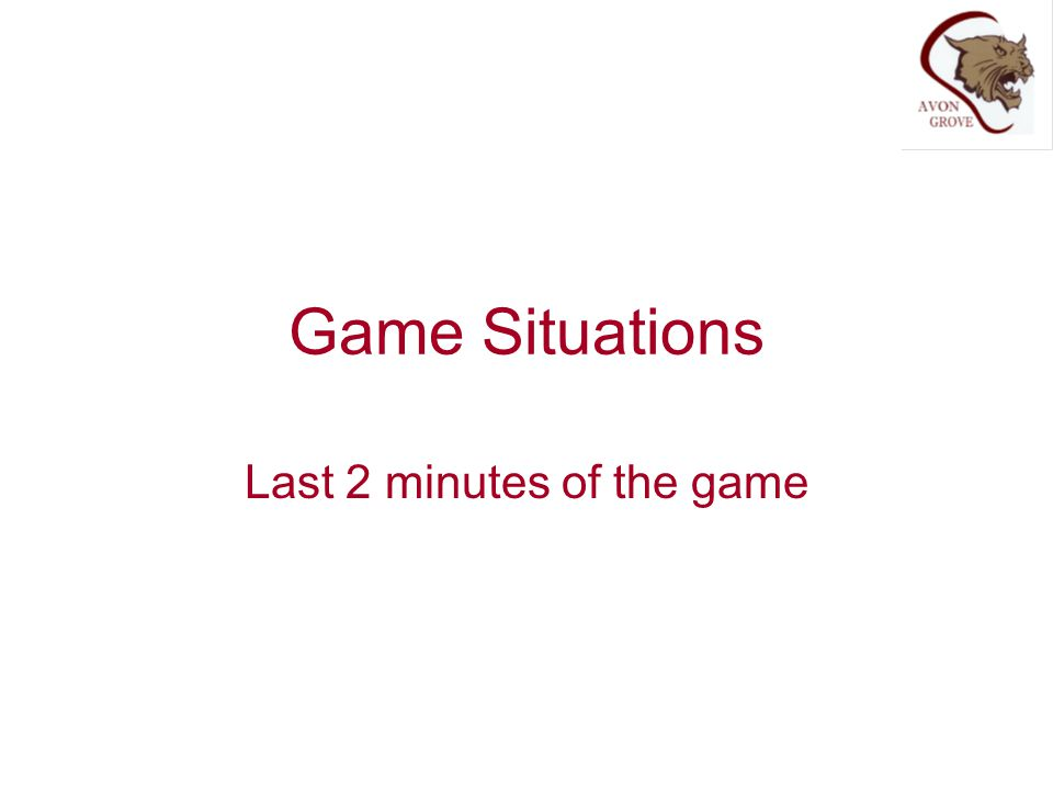 Last 2 minutes of the game