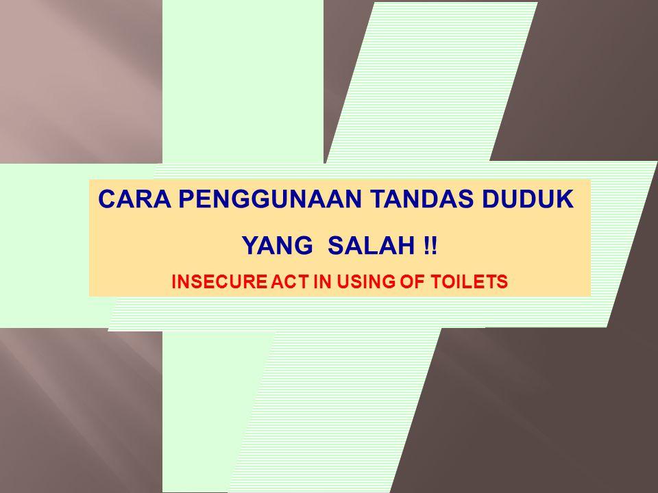 CARA PENGGUNAAN TANDAS DUDUK INSECURE ACT IN USING OF TOILETS
