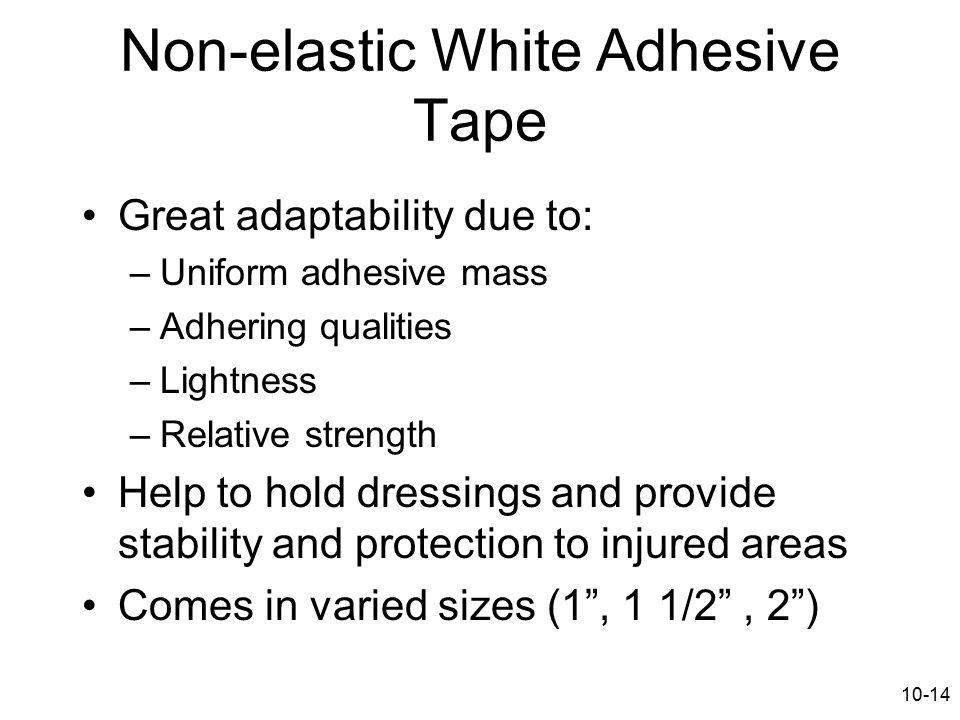 Non-elastic White Adhesive Tape