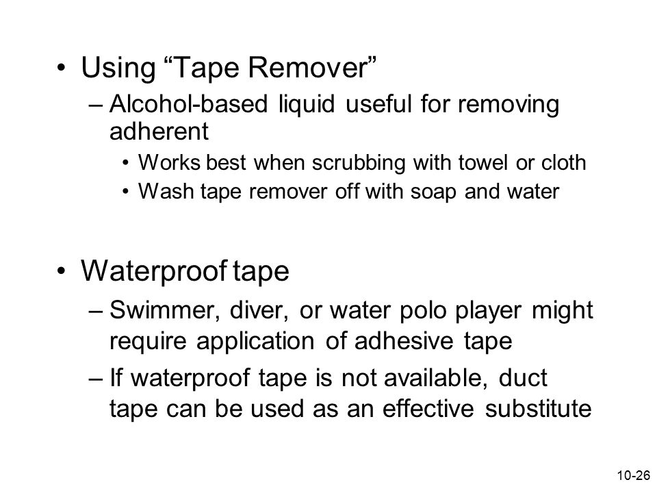 Using Tape Remover Waterproof tape