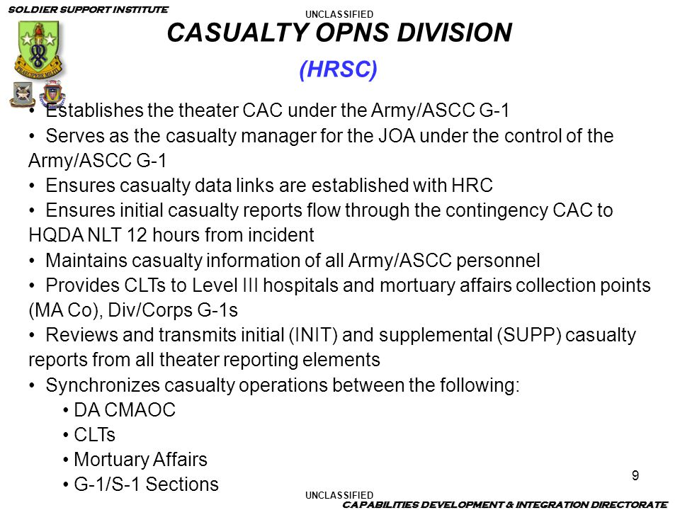 CASUALTY OPNS DIVISION