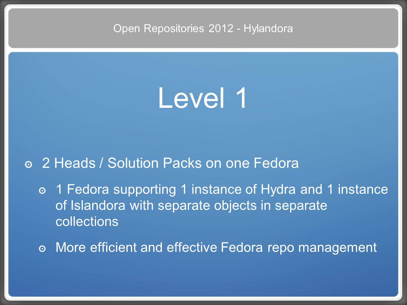 Open Repositories 2012 - Hylandora