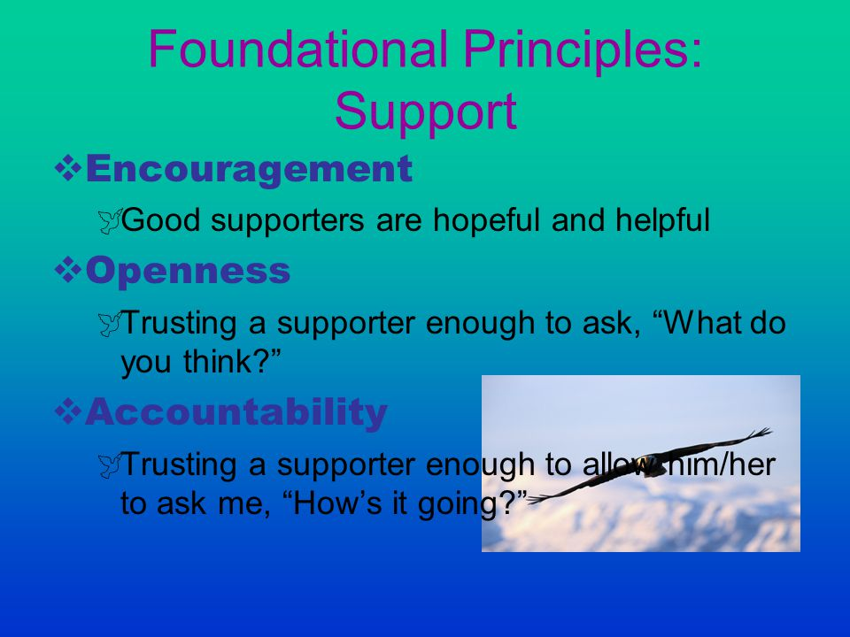 Foundational Principles: Support