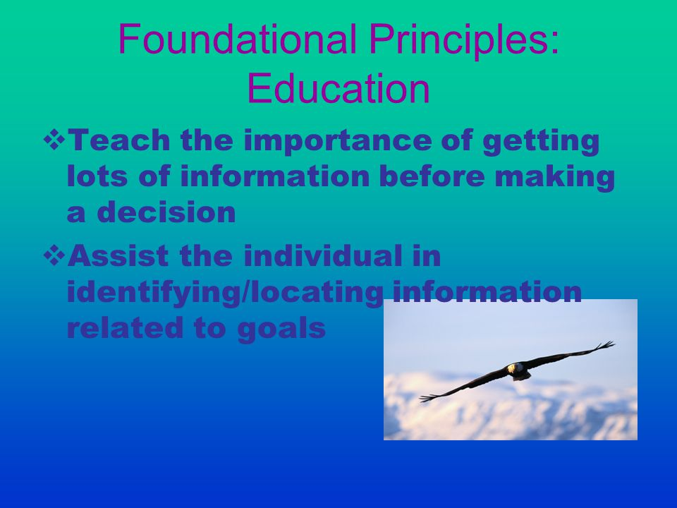 Foundational Principles: Education