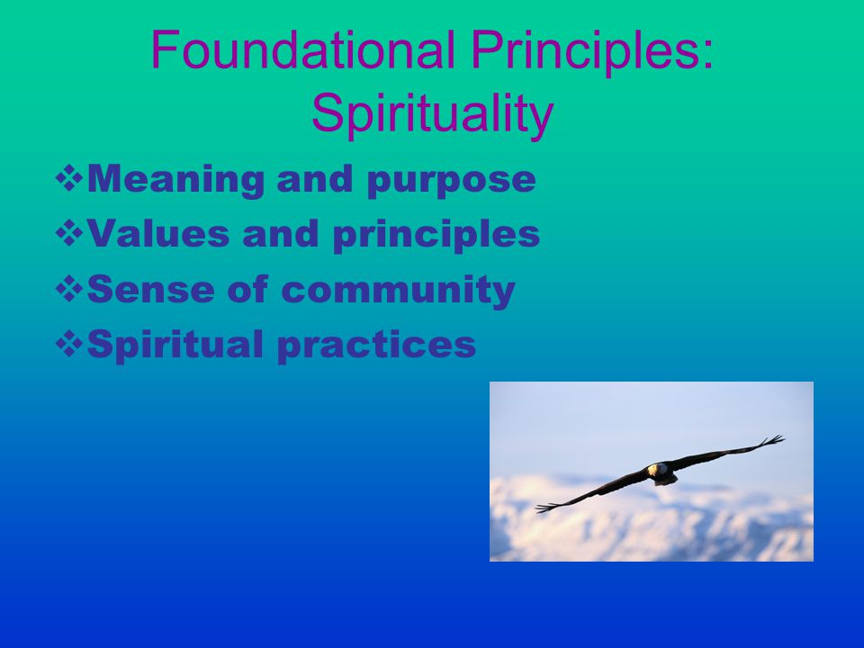 Foundational Principles: Spirituality
