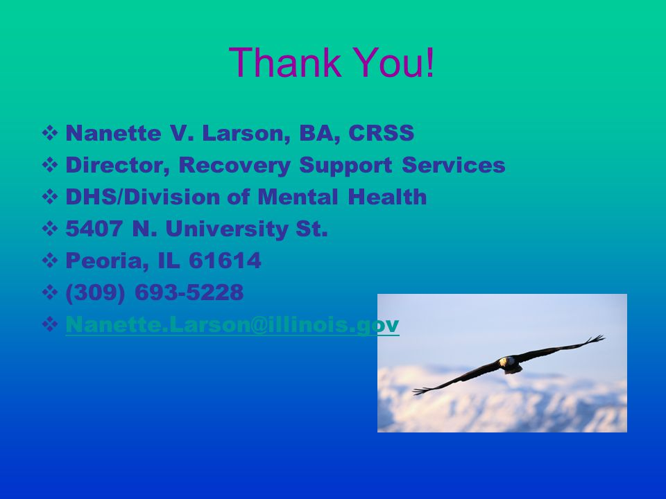 Thank You! Nanette V. Larson, BA, CRSS