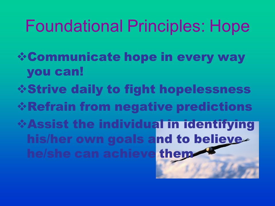 Foundational Principles: Hope