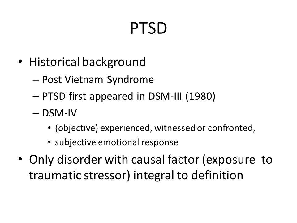 PTSD Historical background
