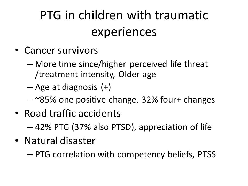 PTG in children with traumatic experiences