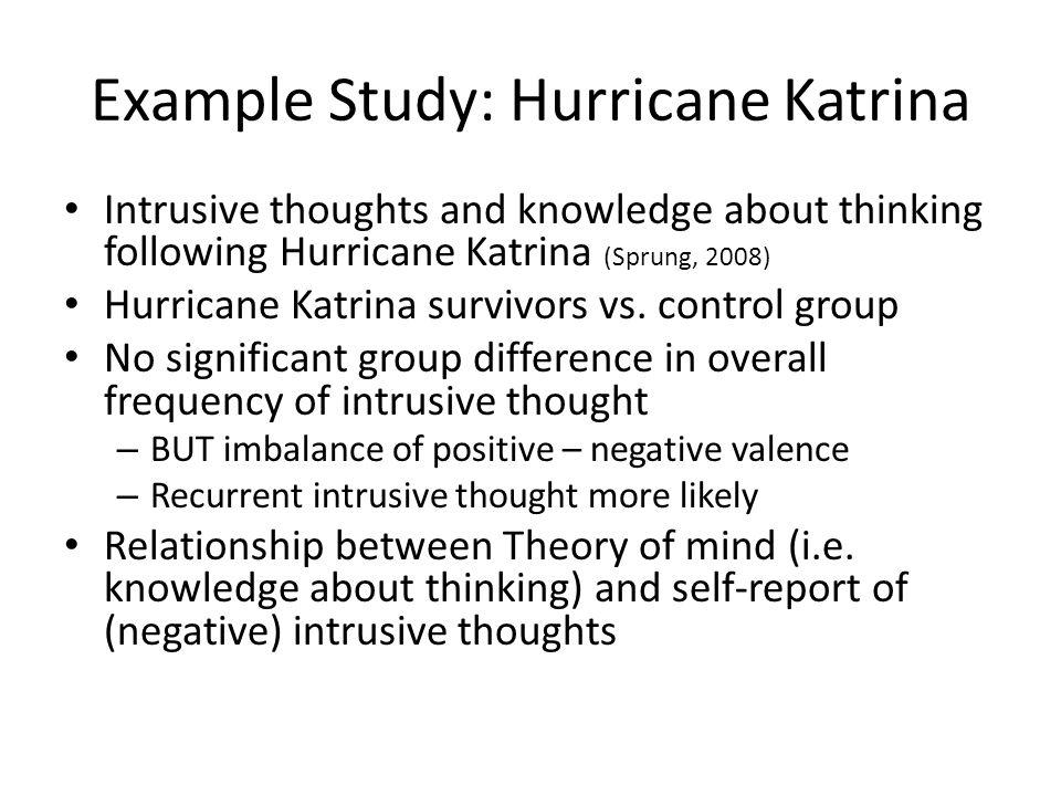 Example Study: Hurricane Katrina