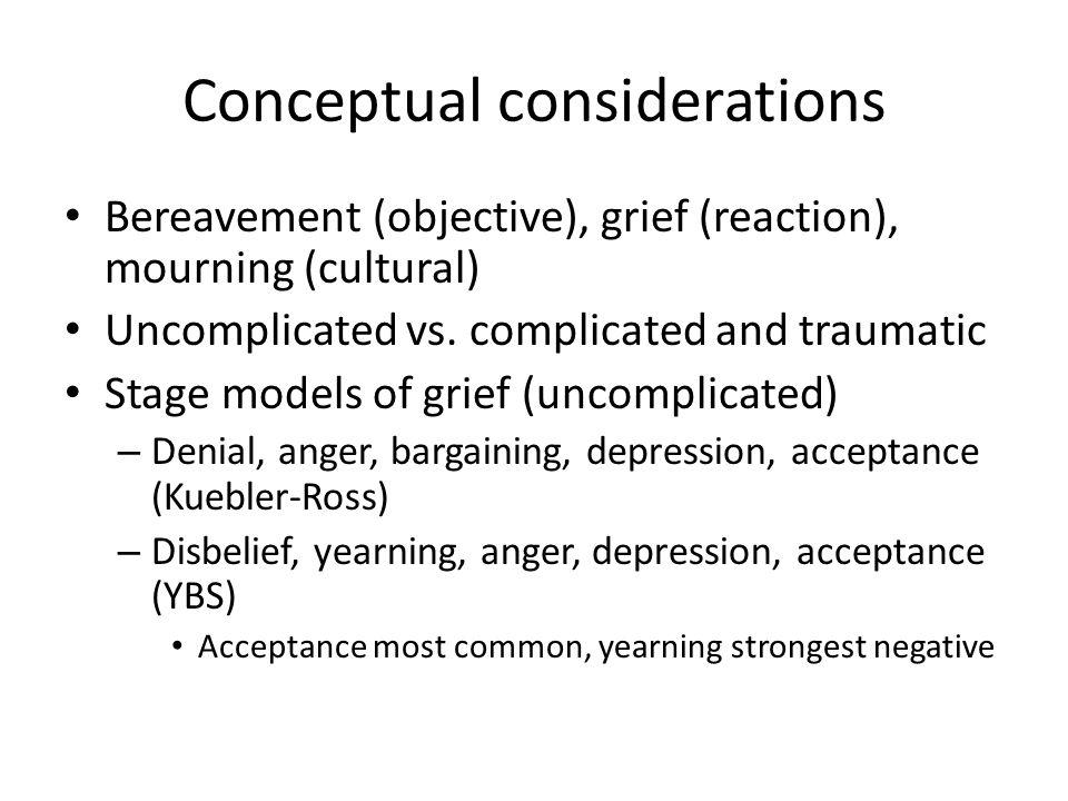 Conceptual considerations
