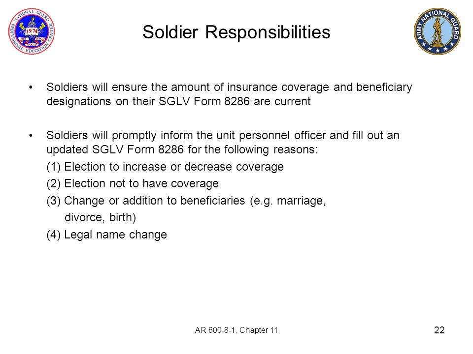 Soldier Responsibilities