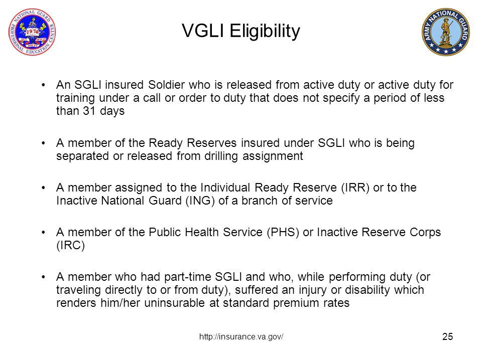 VGLI Eligibility