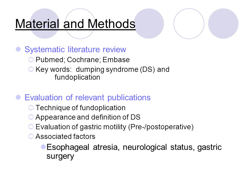 Material and Methods Systematic literature review