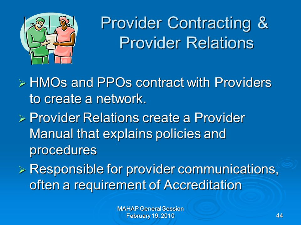 Provider Contracting & Provider Relations