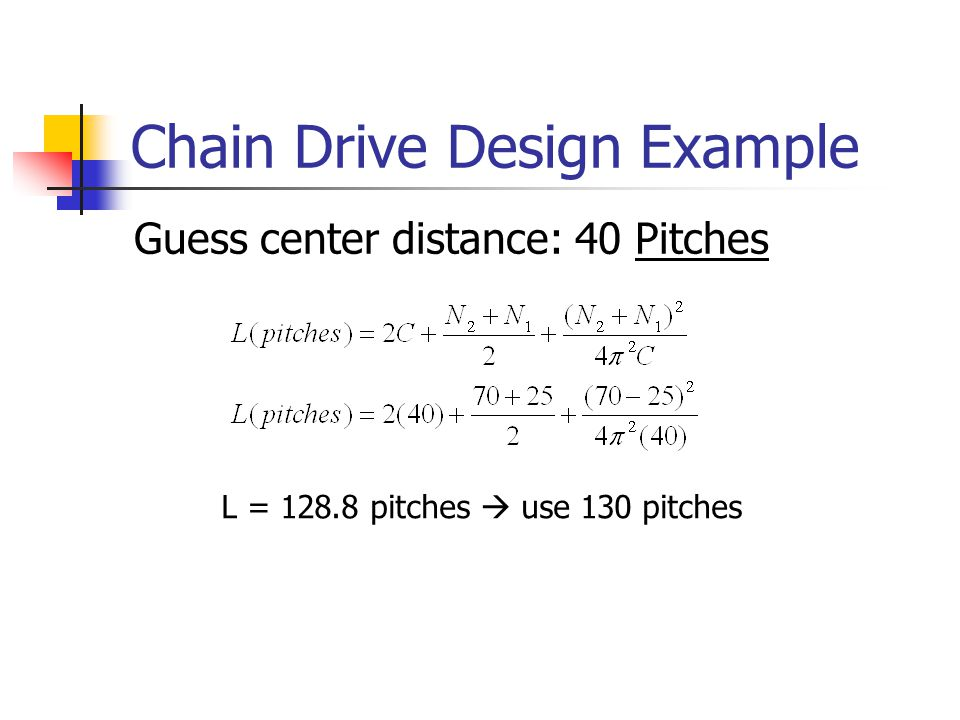 Chain Drive Design Example