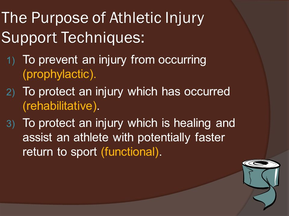 The Purpose of Athletic Injury Support Techniques: