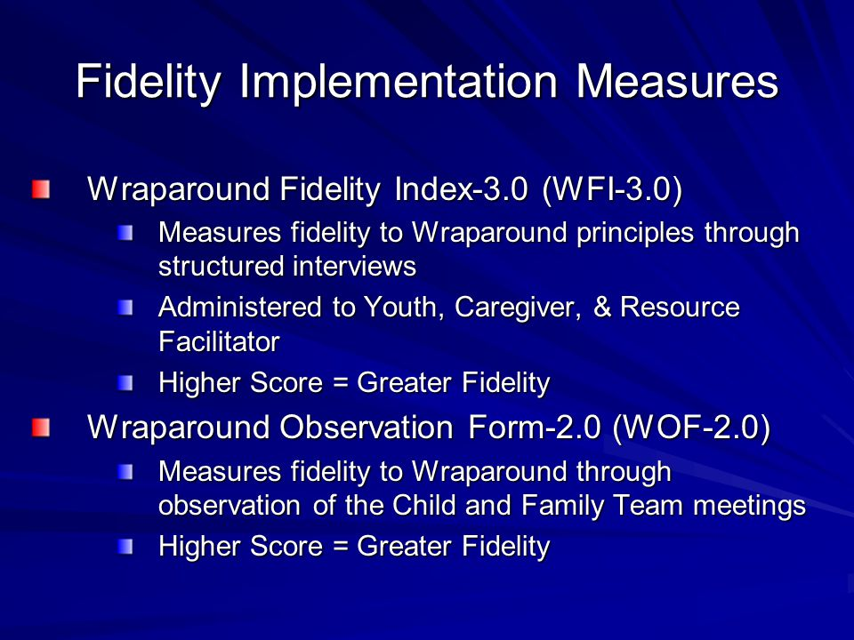 Fidelity Implementation Measures