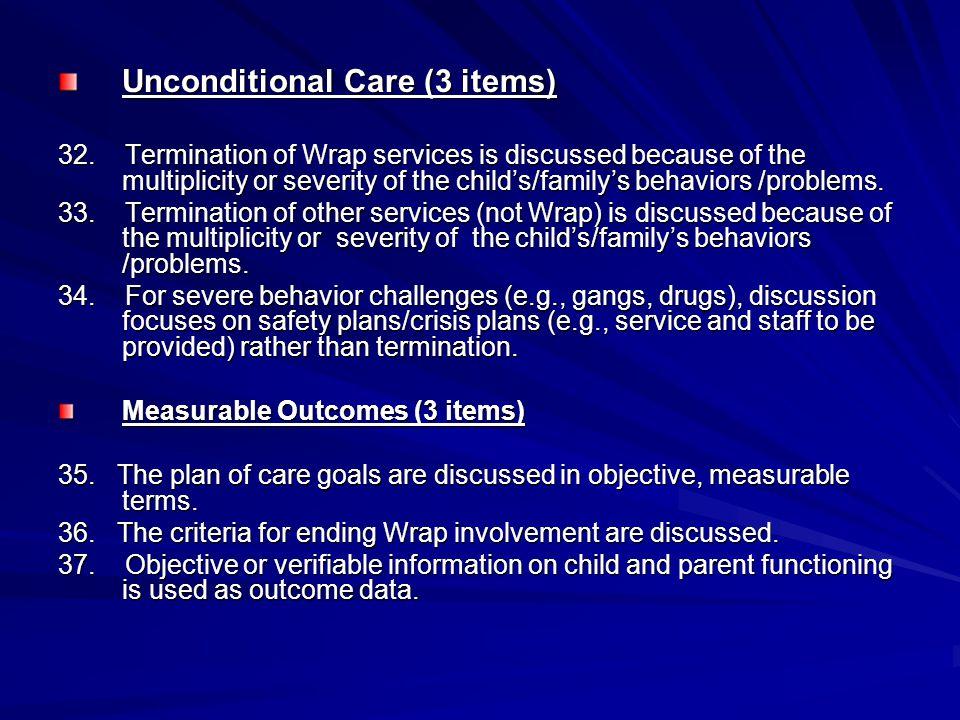 Unconditional Care (3 items)