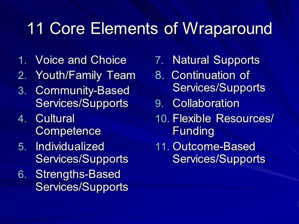 11 Core Elements of Wraparound