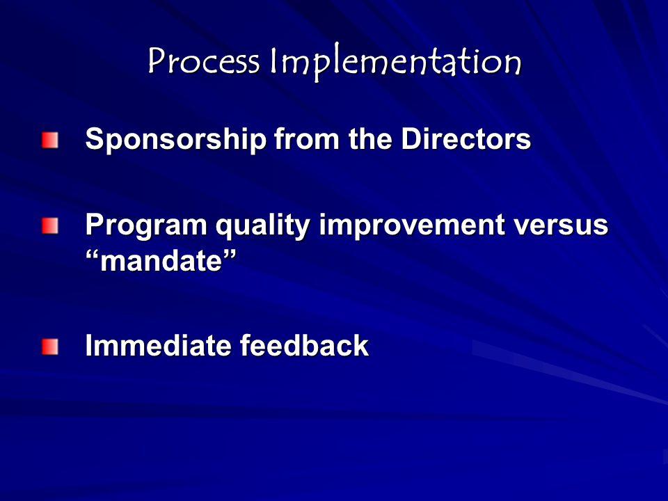 Process Implementation