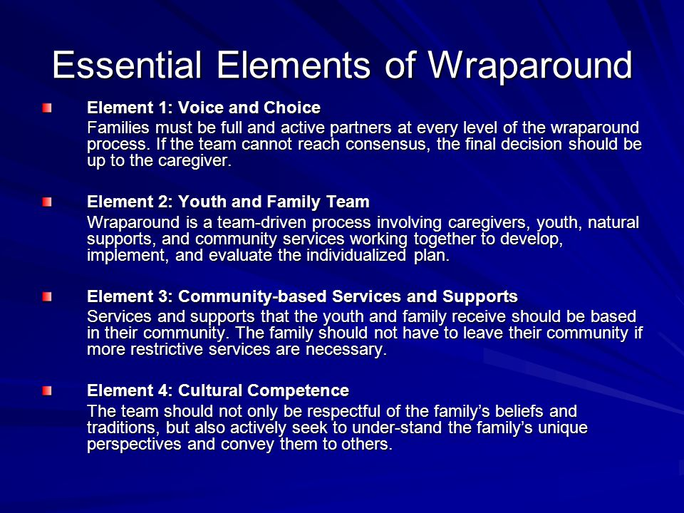Essential Elements of Wraparound