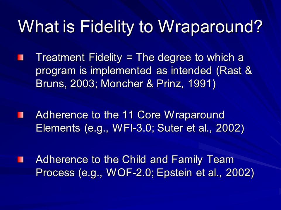 What is Fidelity to Wraparound