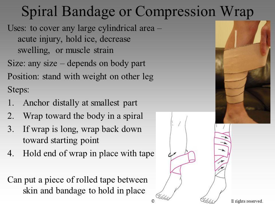 Spiral Bandage or Compression Wrap
