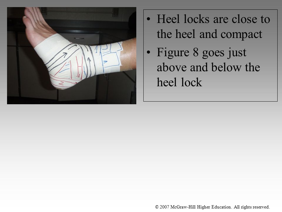 Heel locks are close to the heel and compact