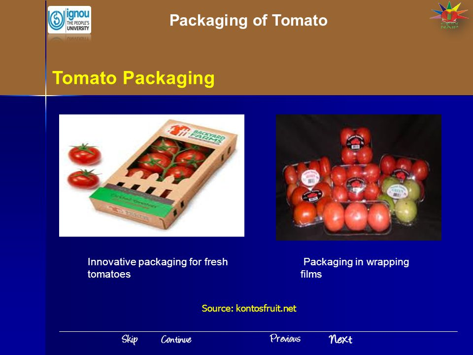 Tomato Packaging Packaging of Tomato