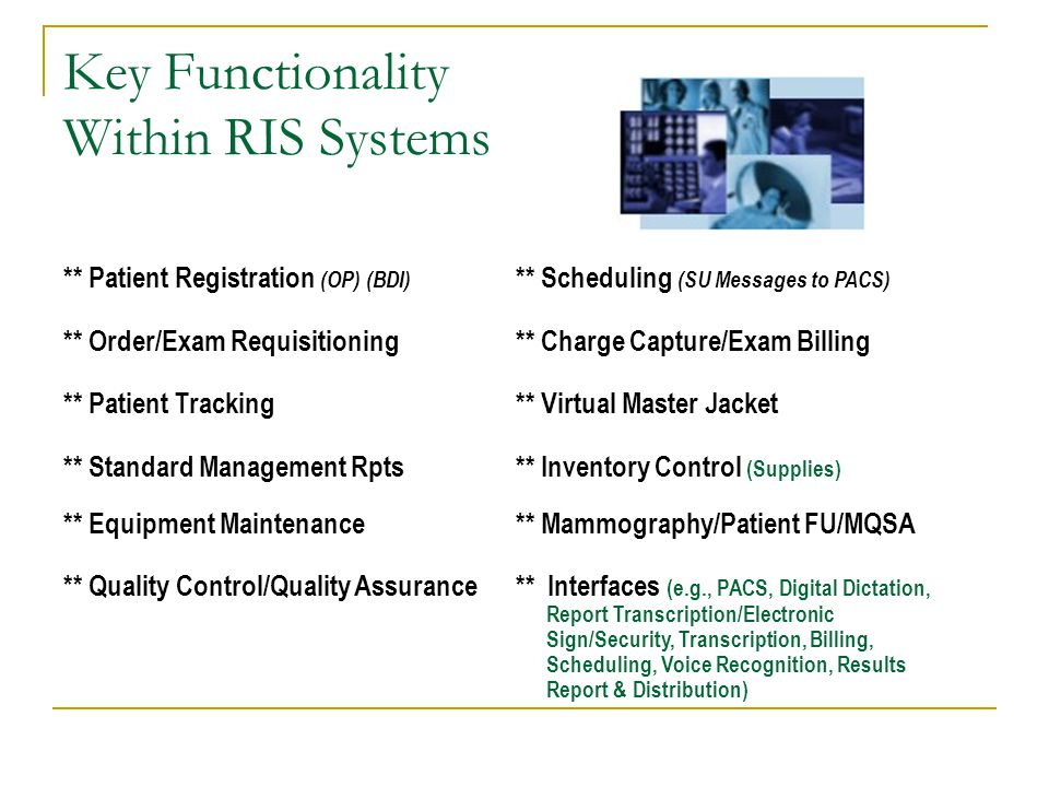 Key Functionality Within RIS Systems