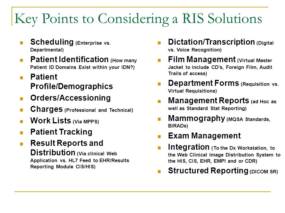 Key Points to Considering a RIS Solutions