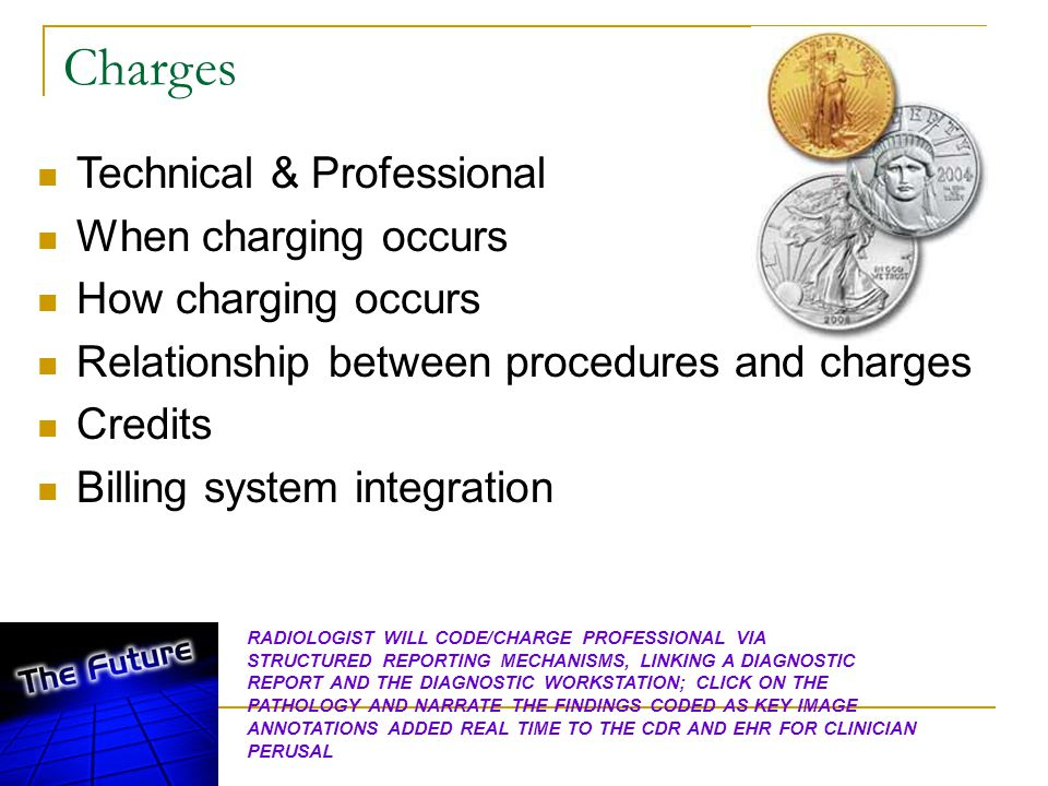 Charges Technical & Professional When charging occurs