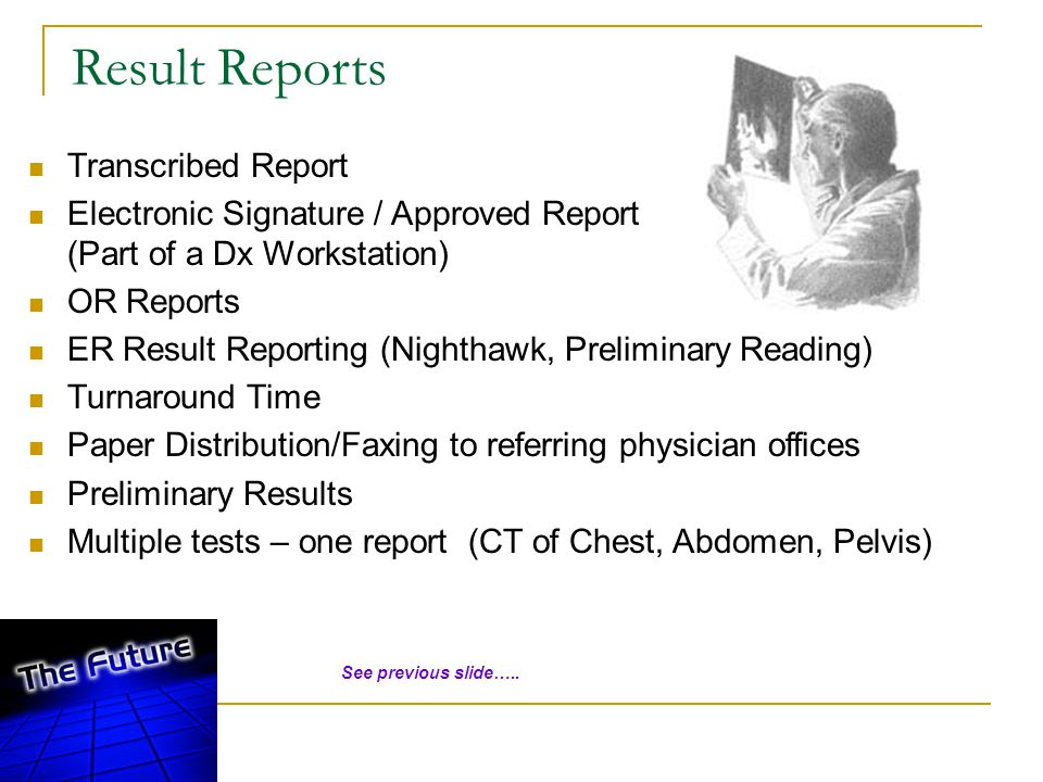 Result Reports Transcribed Report