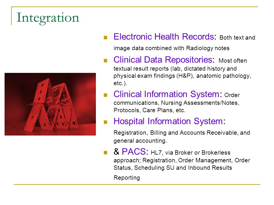 Integration Electronic Health Records: Both text and image data combined with Radiology notes.