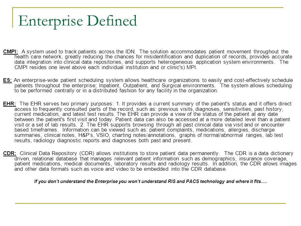 Enterprise Defined