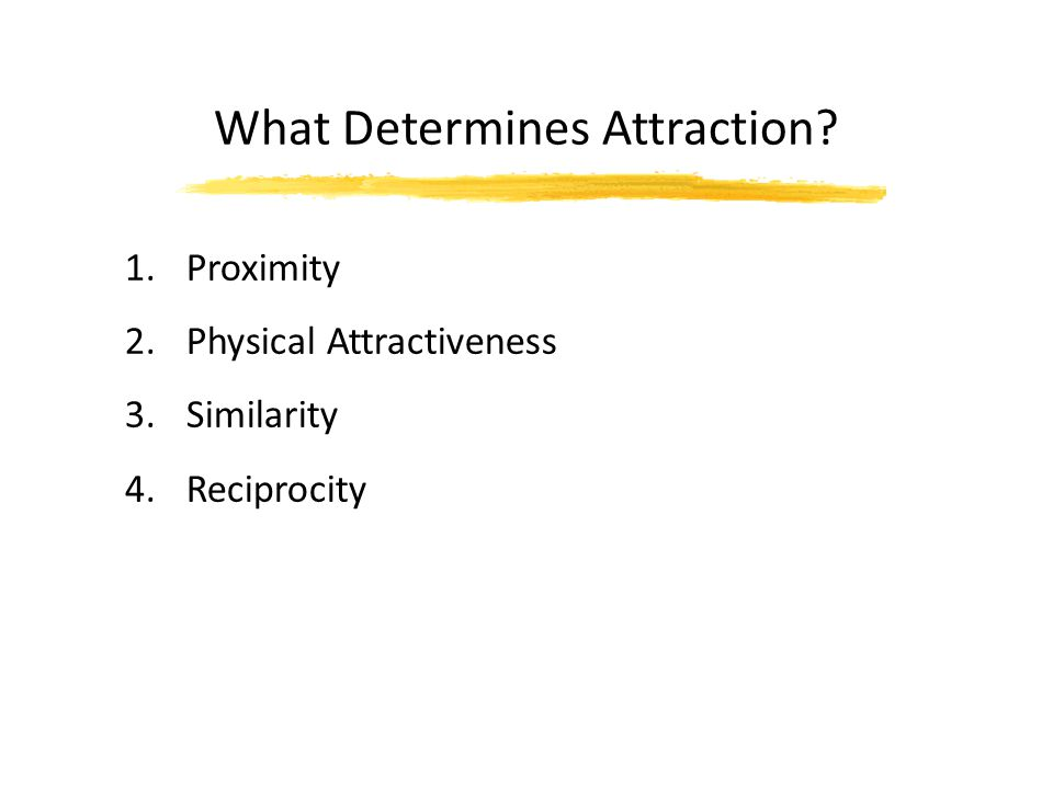 What Determines Attraction