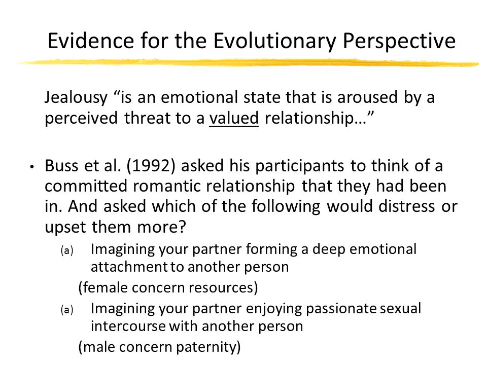 Evidence for the Evolutionary Perspective